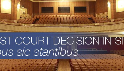 FIRST COURT DECISION IN SPAIN. REBUS SIC STANTIBUS